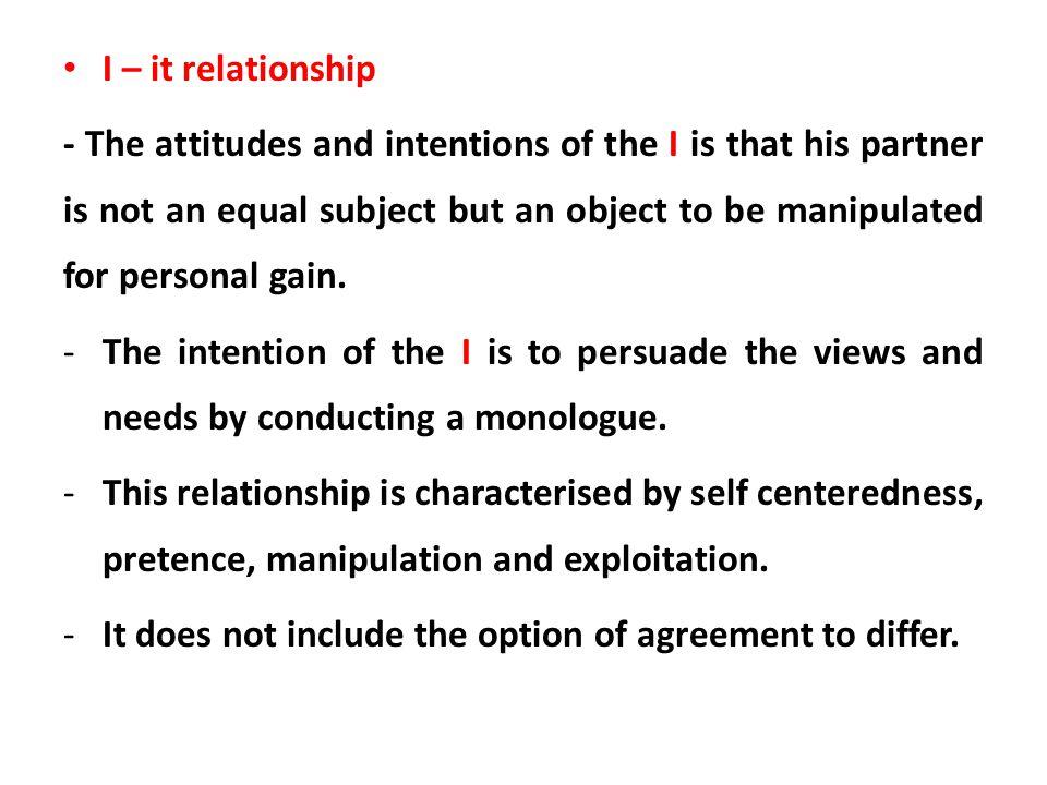 I – it relationship