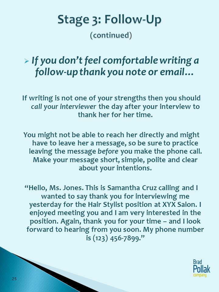 follow up call after interview what to say Kenicandlecomfortzonecom