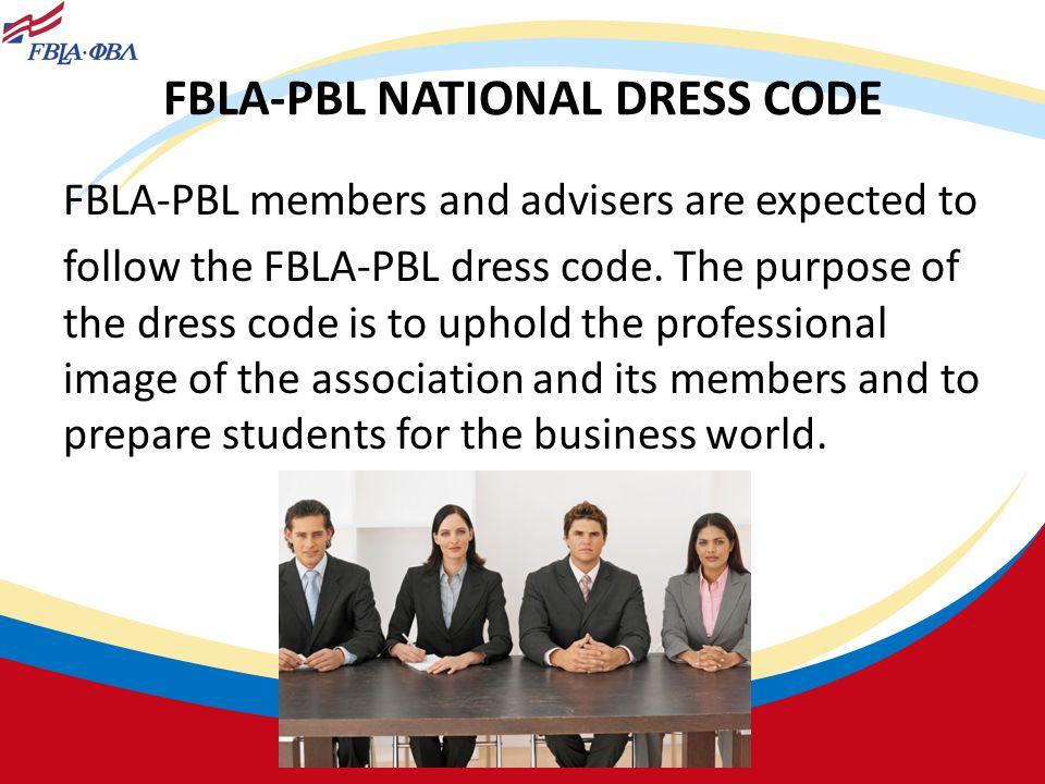 FBLA-PBL NATIONAL DRESS CODE