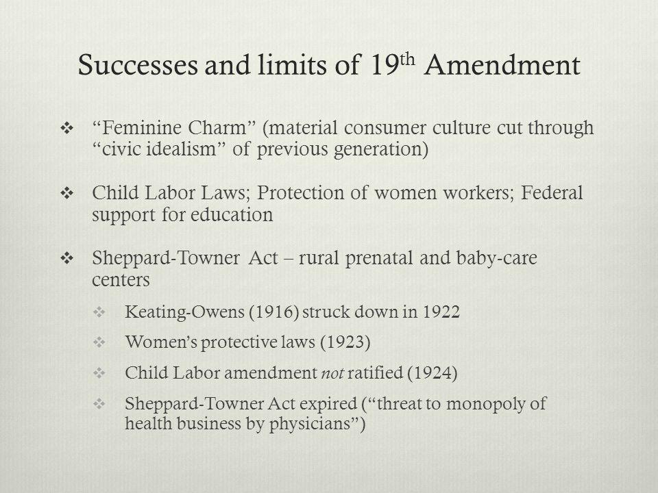 Successes and limits of 19th Amendment