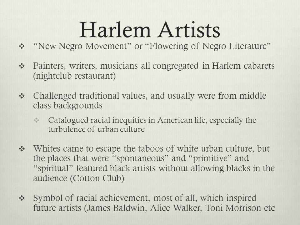 Harlem Artists New Negro Movement or Flowering of Negro Literature