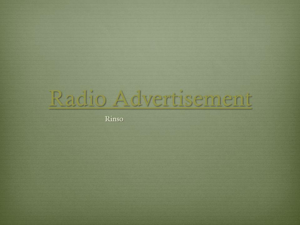 Radio Advertisement Rinso
