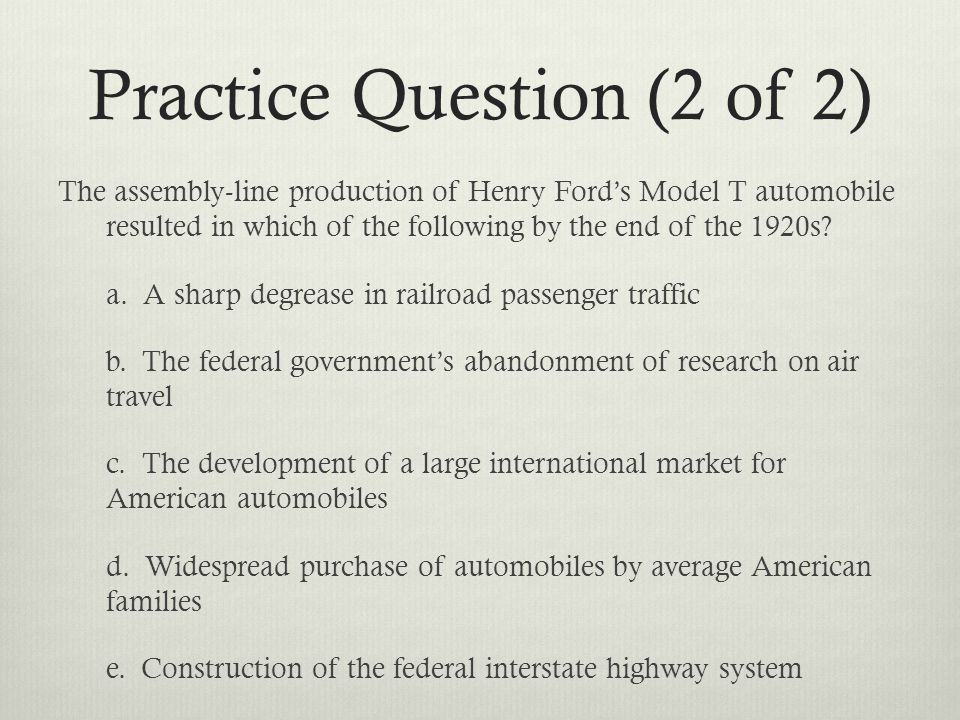 Practice Question (2 of 2)