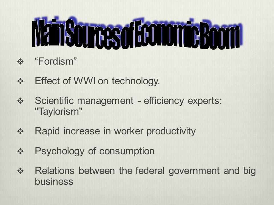 Main Sources of Economic Boom