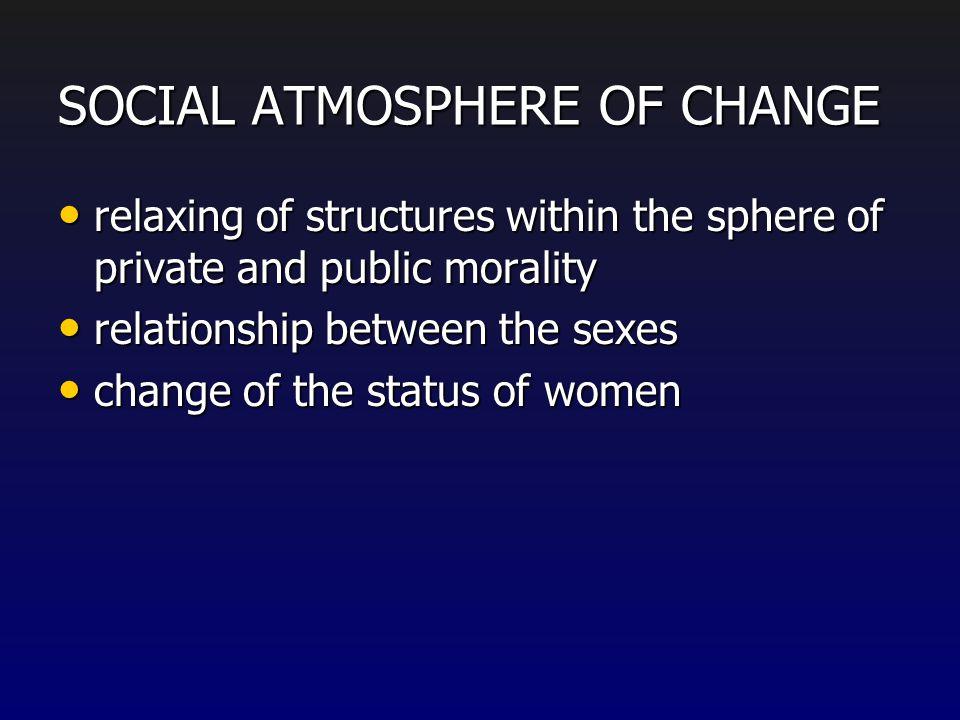 SOCIAL ATMOSPHERE OF CHANGE