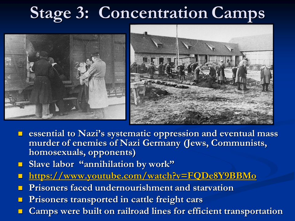 Stage 3: Concentration Camps