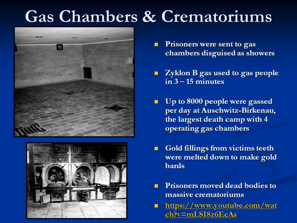 Gas Chambers & Crematoriums