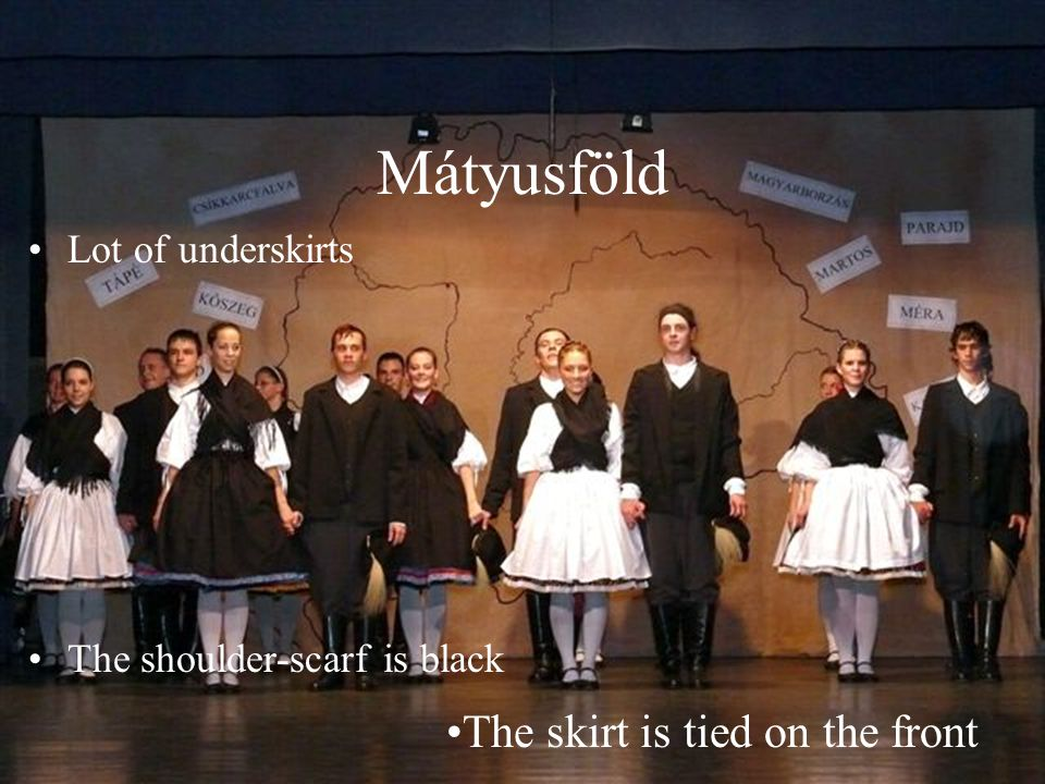 Mátyusföld The skirt is tied on the front Lot of underskirts