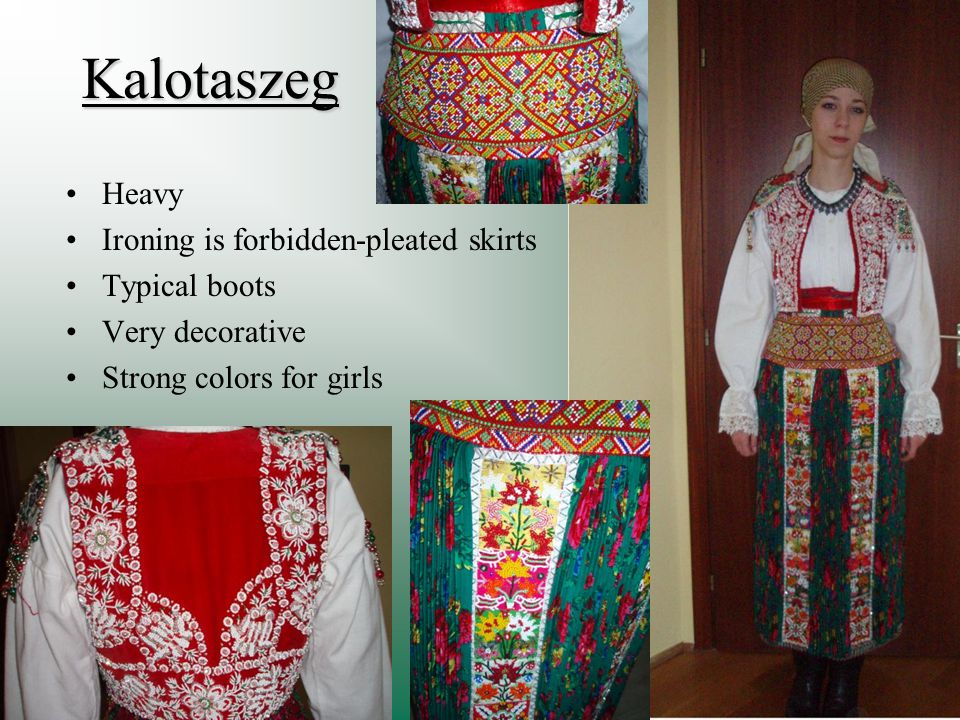 Kalotaszeg Heavy Ironing is forbidden-pleated skirts Typical boots