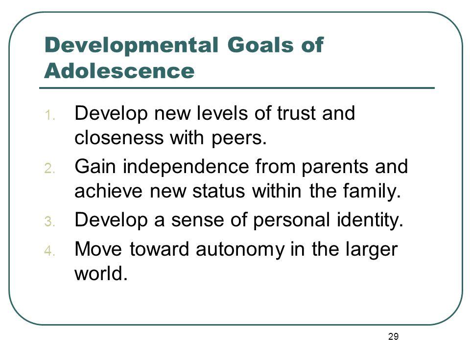 Developmental Goals of Adolescence