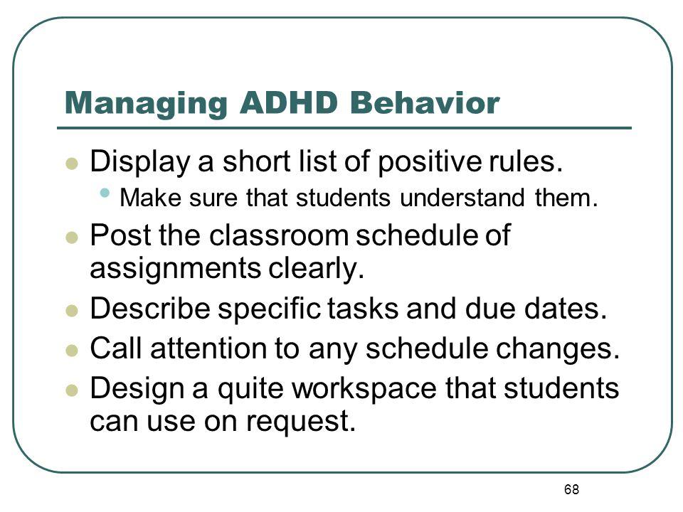 Managing ADHD Behavior
