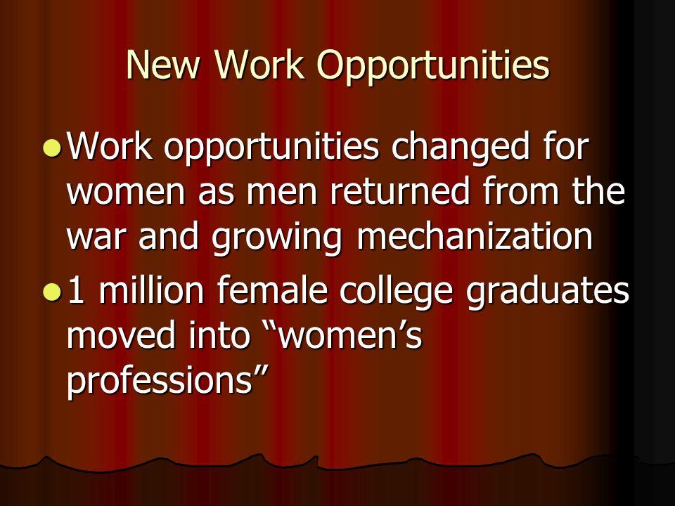 New Work Opportunities