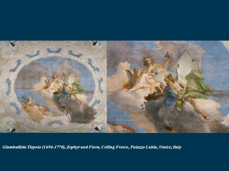 Giambattista Tiepolo (1696-1770), Zephyr and Flora, Ceiling Fresco, Palazzo Labia, Venice, Italy