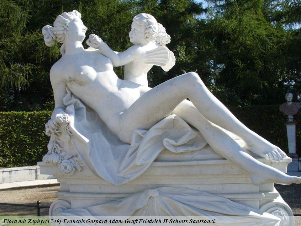 Flora mit Zephyr(1749)-Francois Gaspard Adam-Gruft Friedrich II-Schloss Sanssouci.