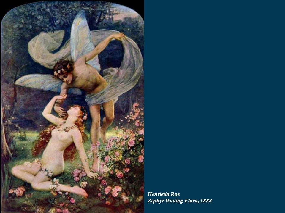 Henrietta Rae Zephyr Wooing Flora, 1888