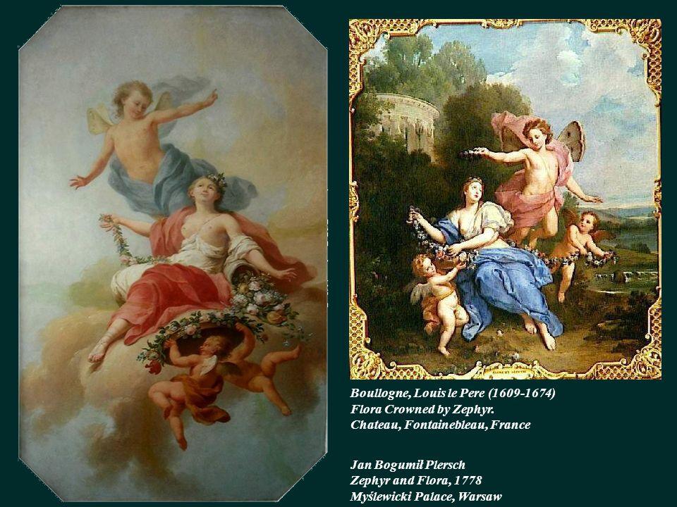 Boullogne, Louis le Pere (1609-1674) Flora Crowned by Zephyr.