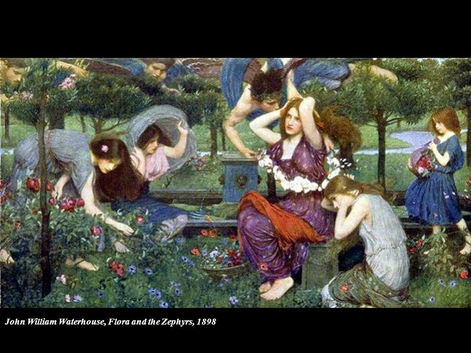 John William Waterhouse, Flora and the Zephyrs, 1898