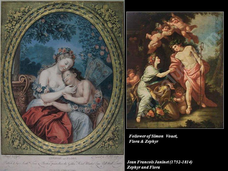 Follower of Simon Vouet, Flora & Zephyr