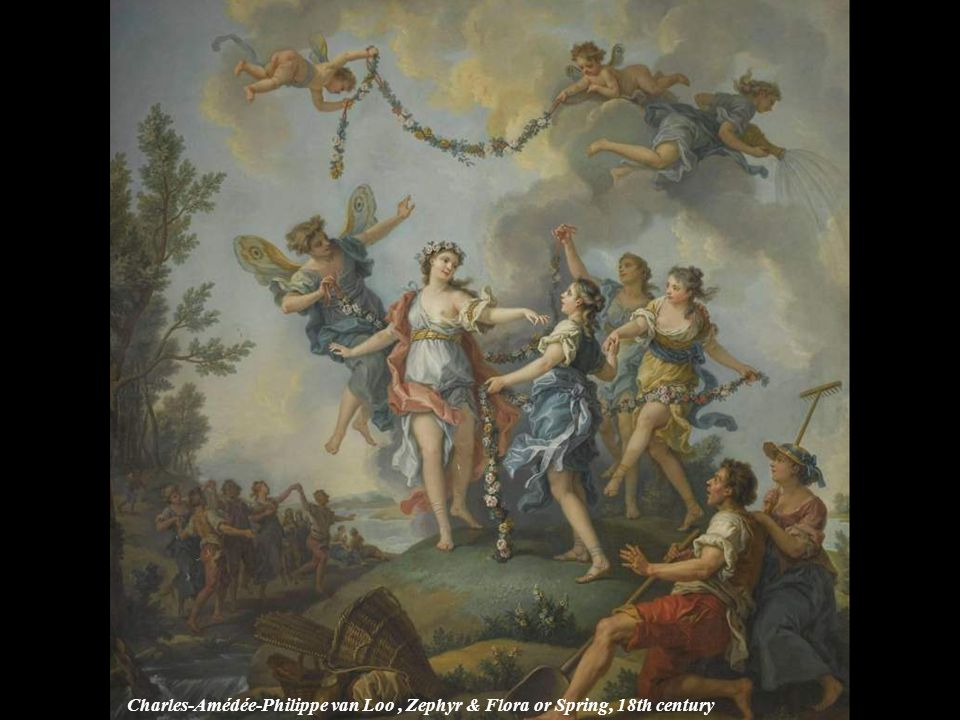 Charles-Amédée-Philippe van Loo , Zephyr & Flora or Spring, 18th century