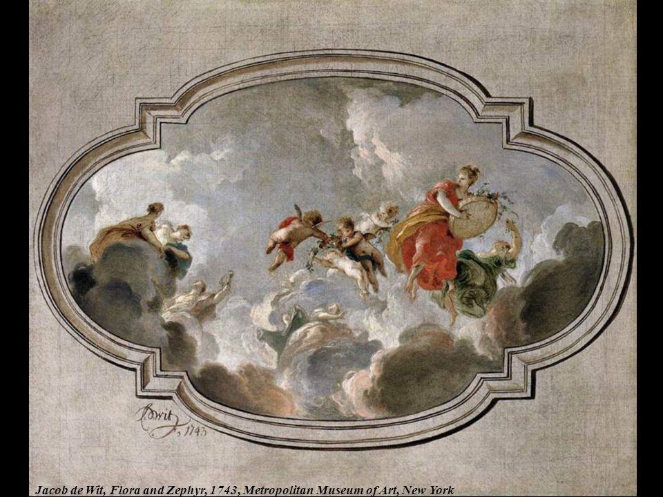 Jacob de Wit, Flora and Zephyr, 1743, Metropolitan Museum of Art, New York