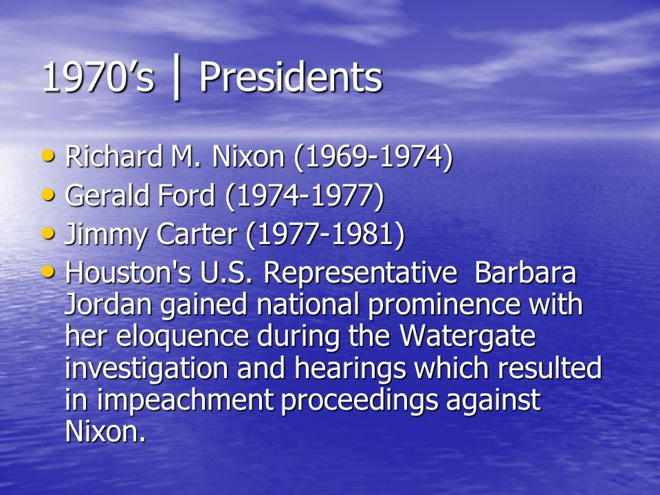 1970's | Presidents Richard M. Nixon (1969-1974)