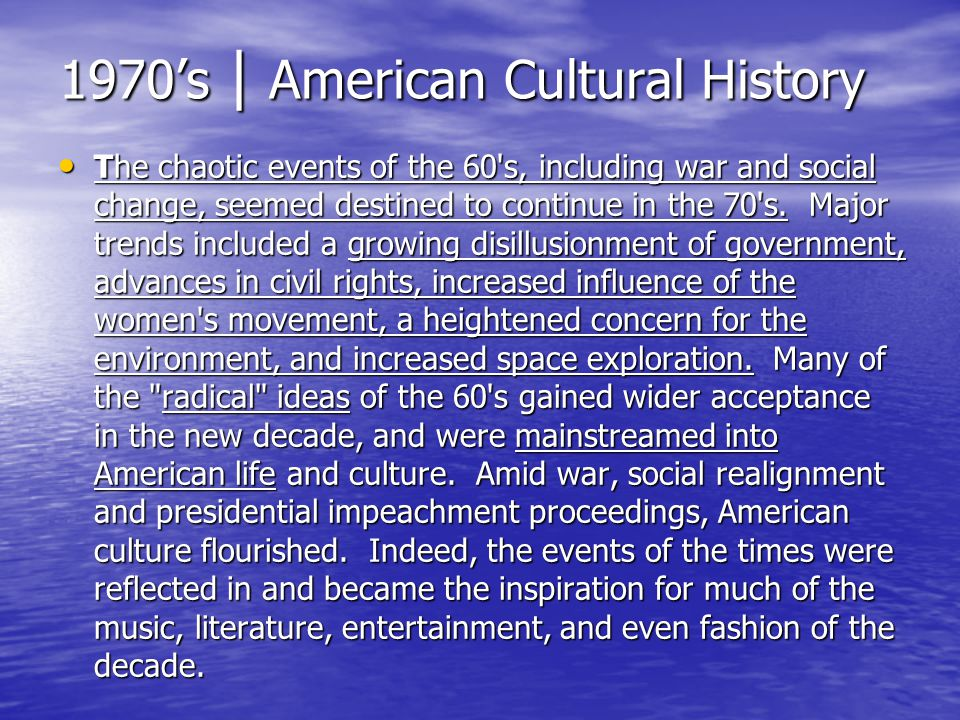 1970's | American Cultural History