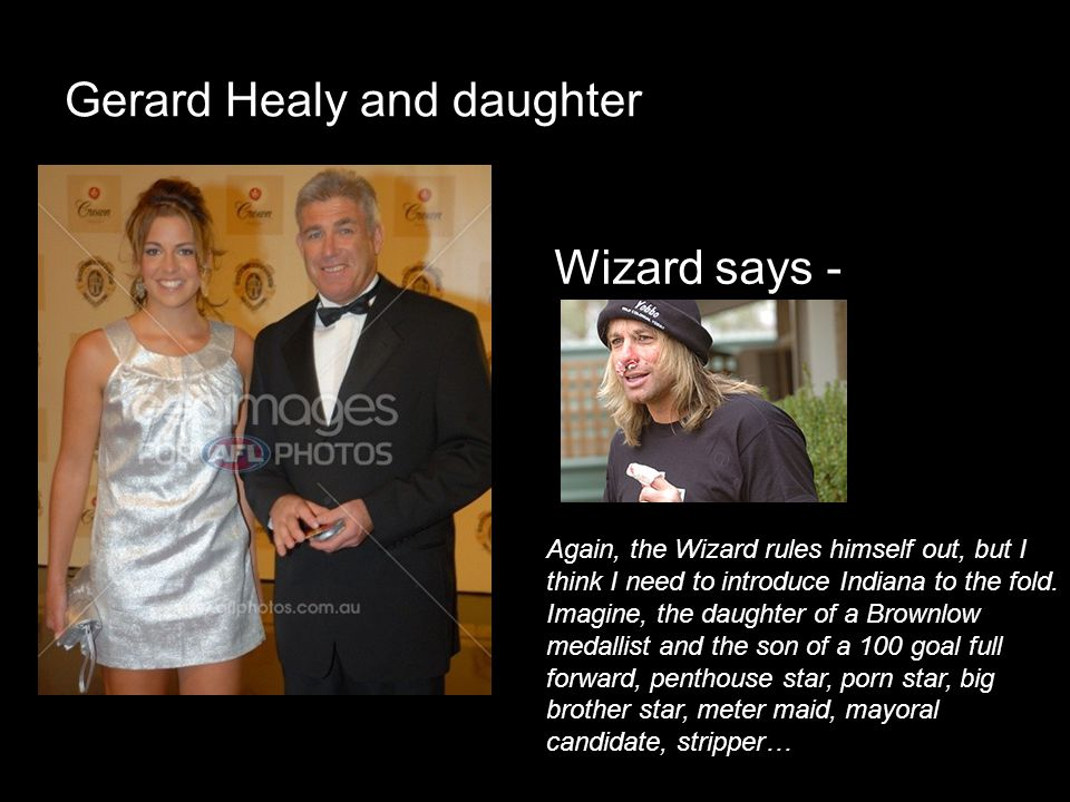 Gerard Healy and daughter