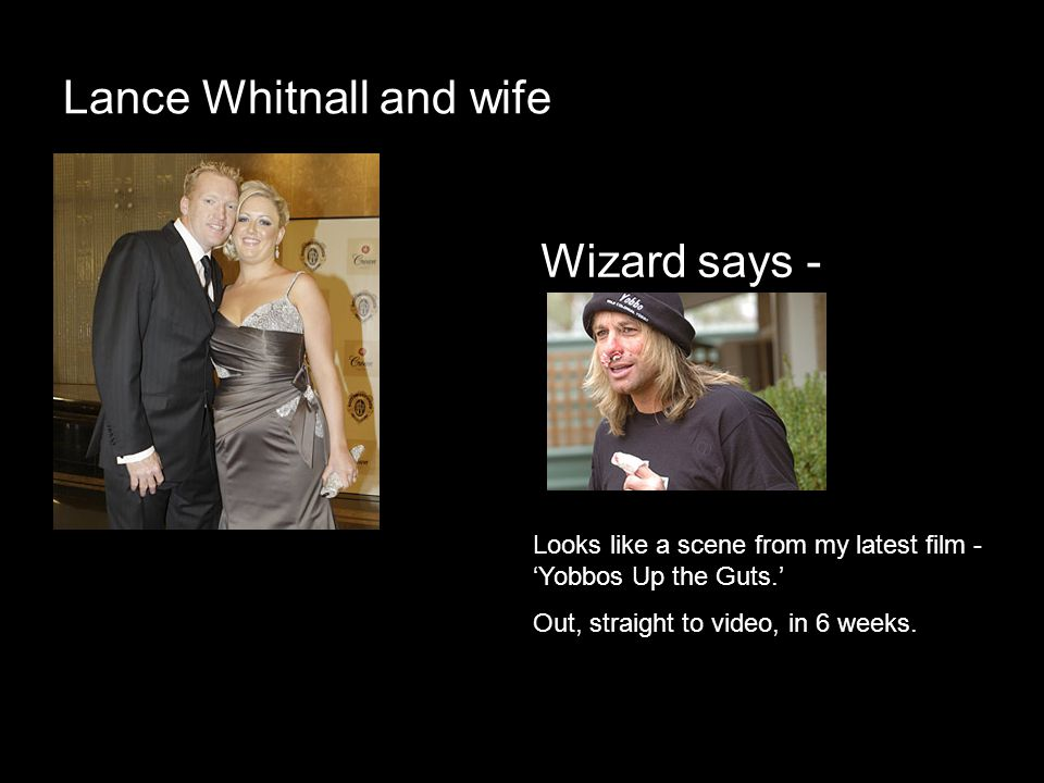 Lance Whitnall and wife