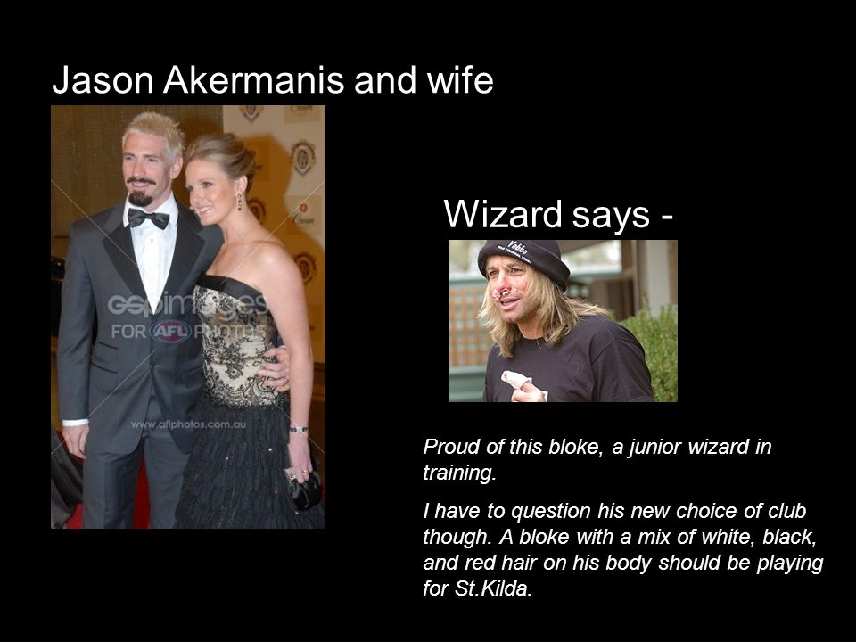 Jason Akermanis and wife