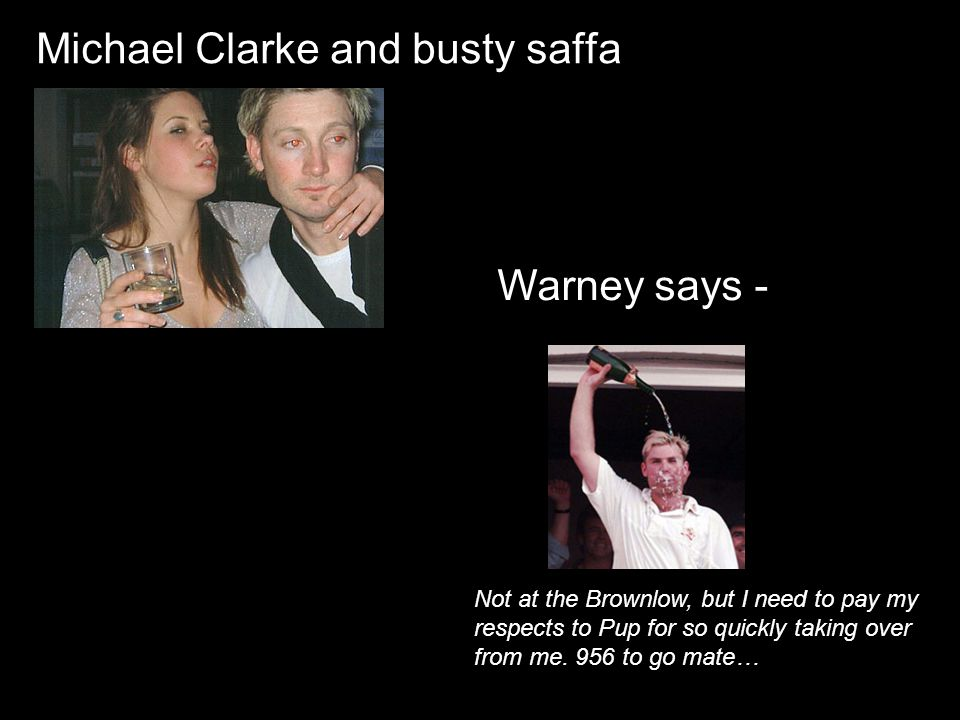 Michael Clarke and busty saffa