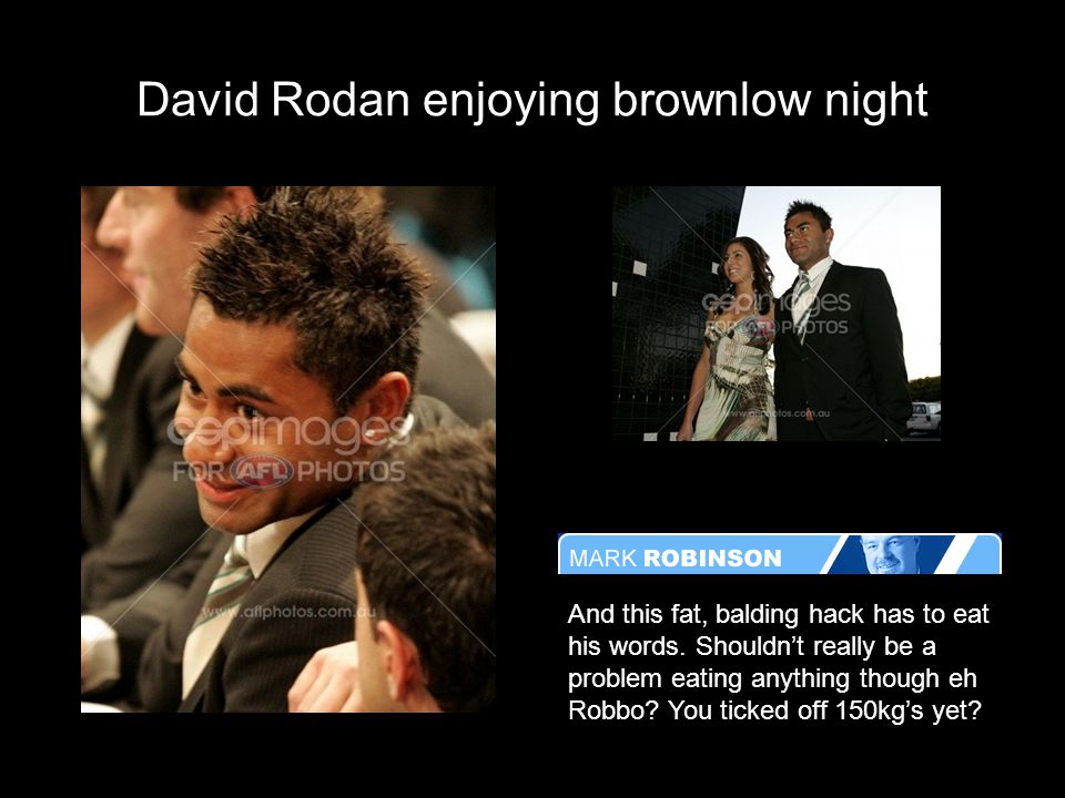 David Rodan enjoying brownlow night