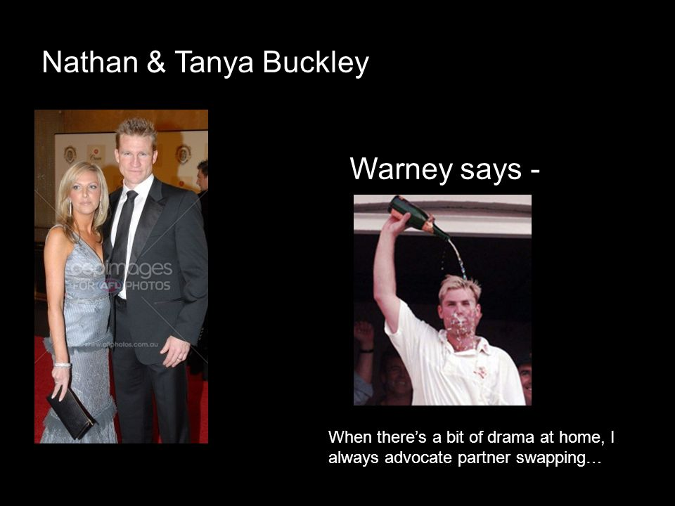 Nathan & Tanya Buckley Warney says -