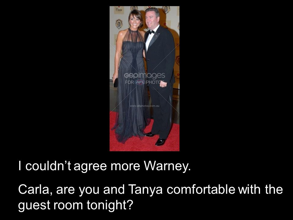 I couldn't agree more Warney.