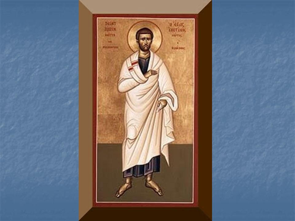 An icon of St. Justin – an early father of the church