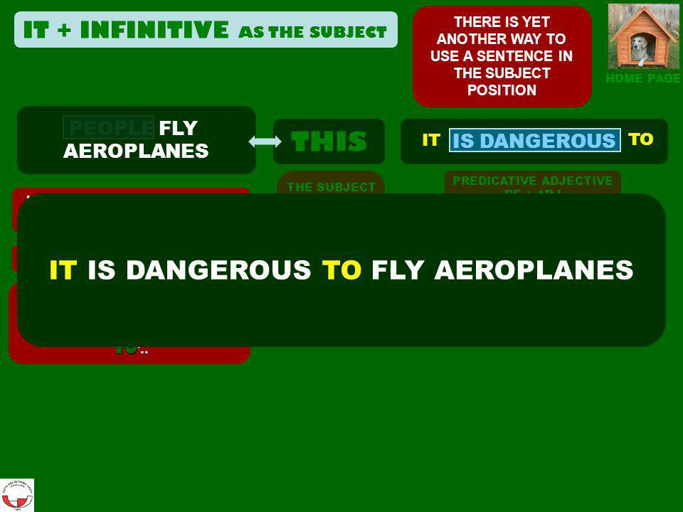 IT IS DANGEROUS TO FLY AEROPLANES