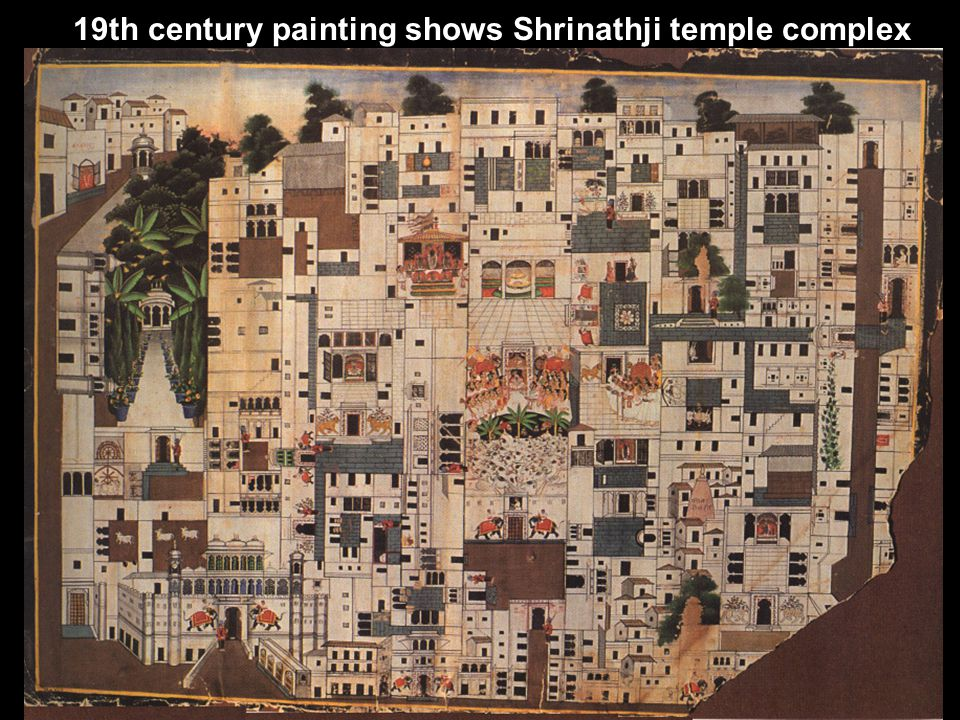 19th century painting shows Shrinathji temple complex