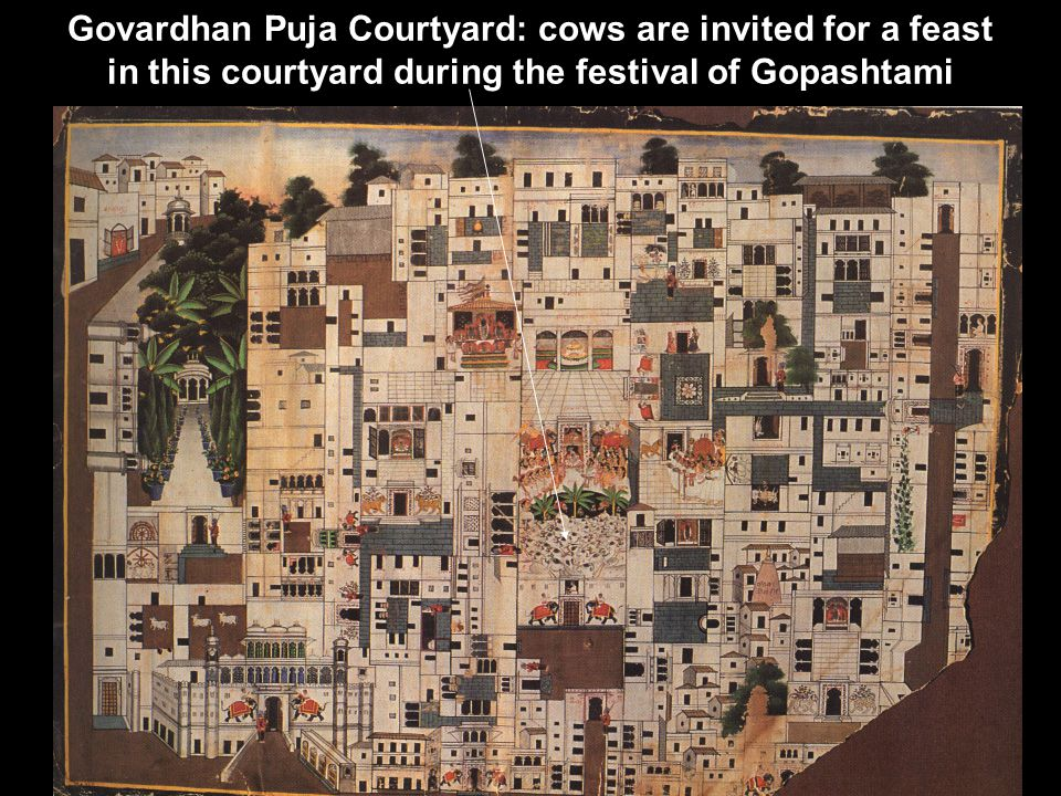 Govardhan Puja Courtyard: cows are invited for a feast in this courtyard during the festival of Gopashtami