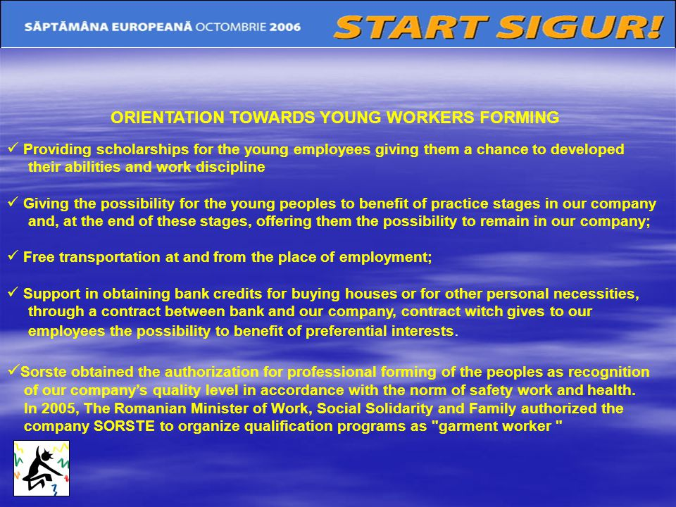 ORIENTATION TOWARDS YOUNG WORKERS FORMING