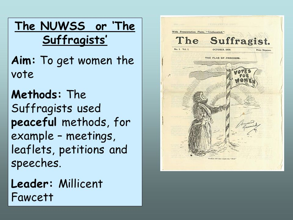 The NUWSS or 'The Suffragists'