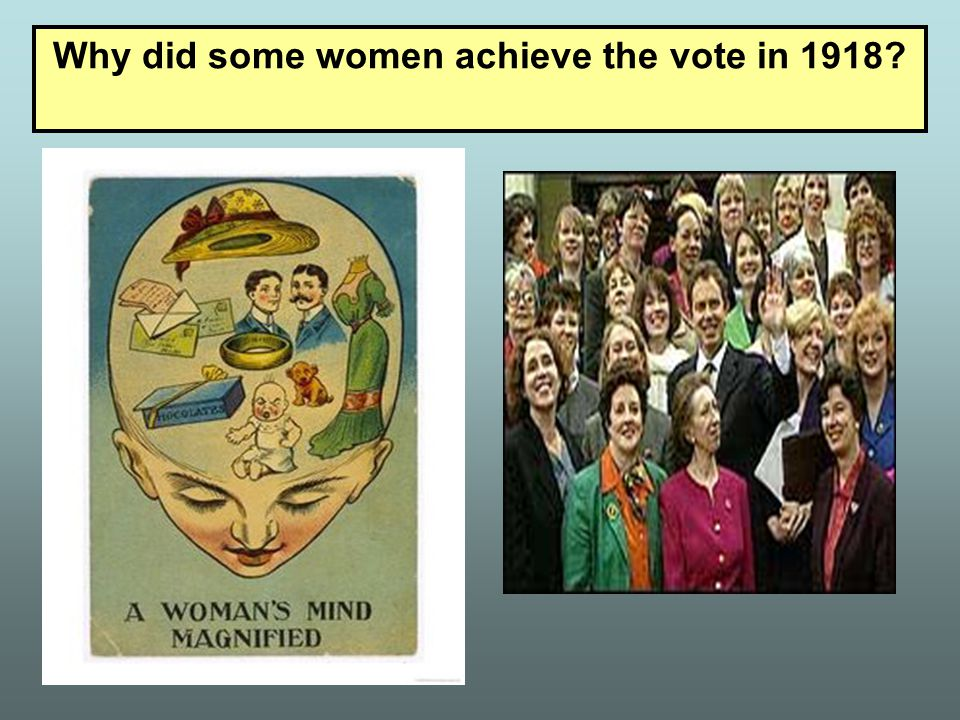 Why did some women achieve the vote in 1918