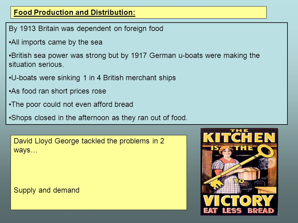 Food Production and Distribution: