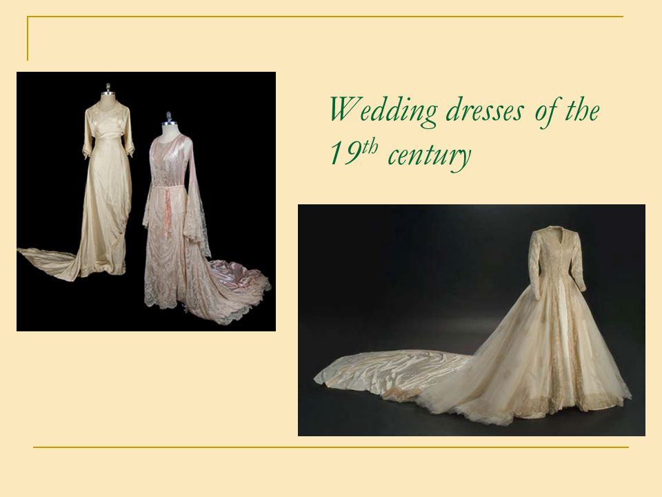 Wedding dresses of the 19th century