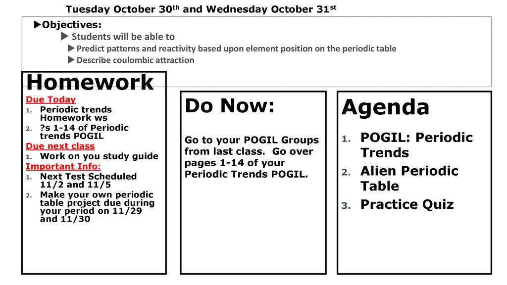 Homework Agenda Do Now Pass Back Papers Ppt Download