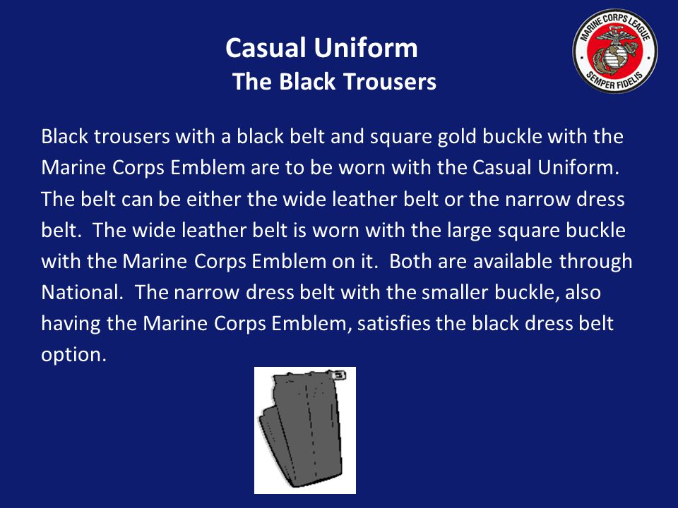 Casual Uniform The Black Trousers