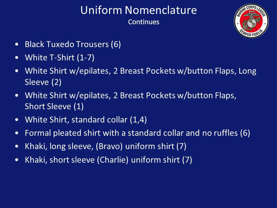 Uniform Nomenclature Continues