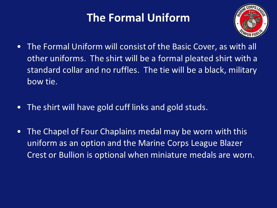 The Formal Uniform
