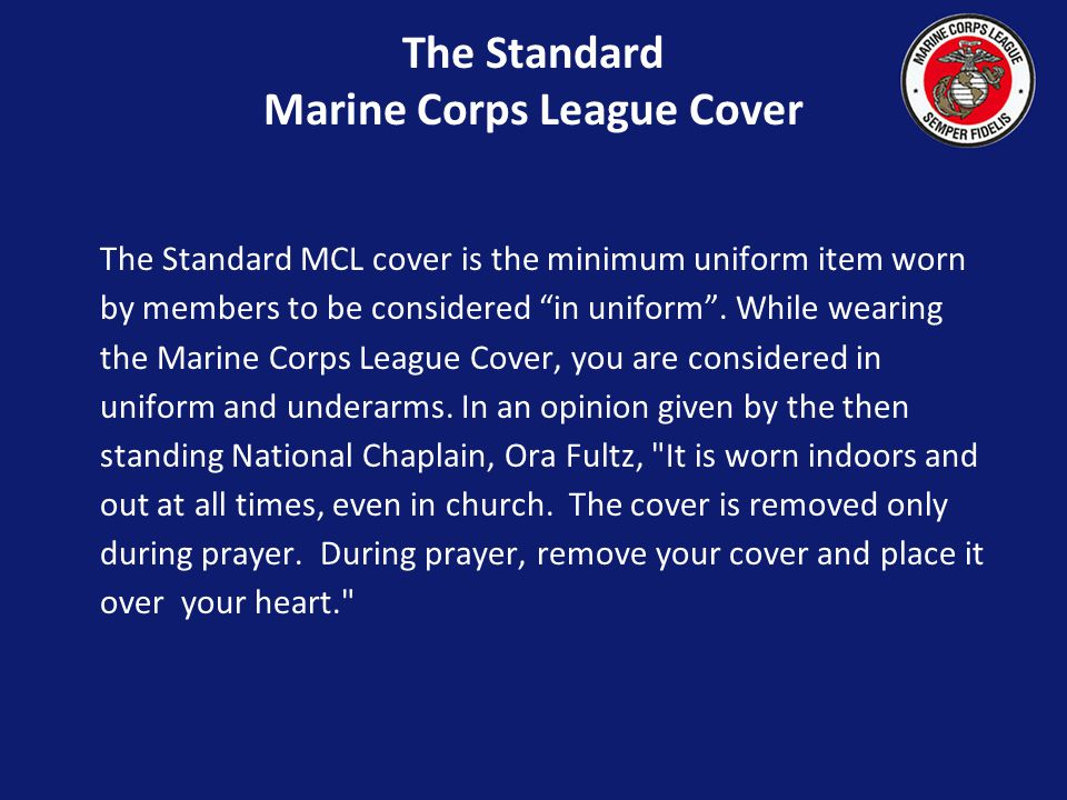 The Standard Marine Corps League Cover