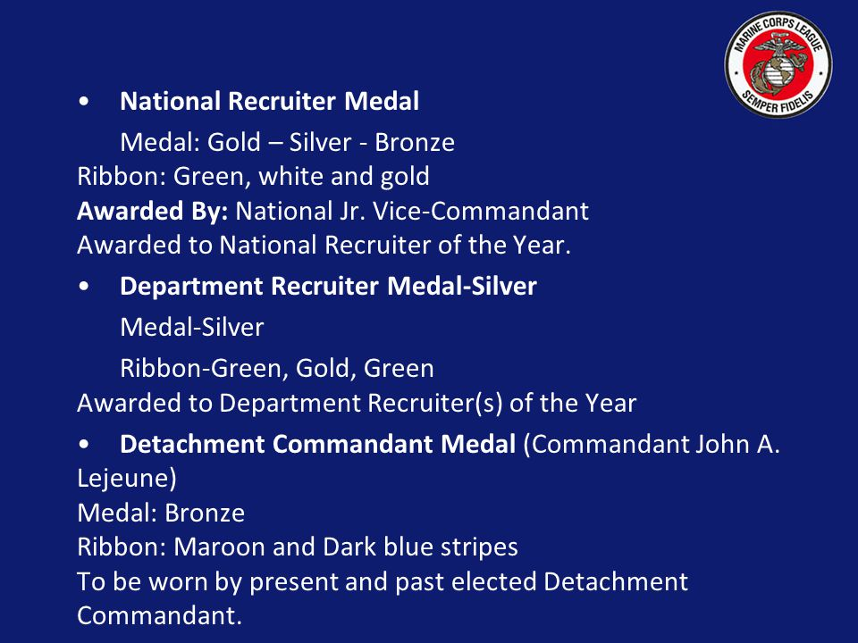 National Recruiter Medal
