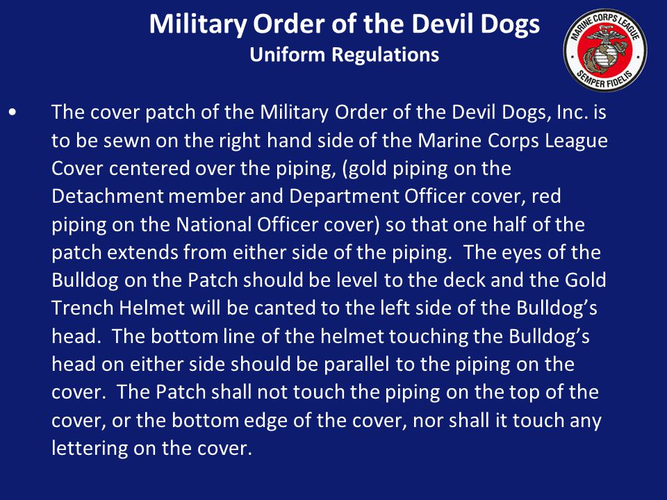 Military Order of the Devil Dogs Uniform Regulations