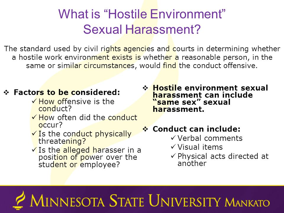 What is Hostile Environment